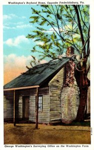Virginia Fredericksburg George Washington's Surveying Office On The Wash...