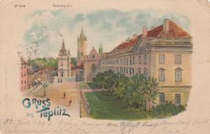 Gruss aus Tepitz, Czechoslovakia Republic , 1899; Schlossplatz