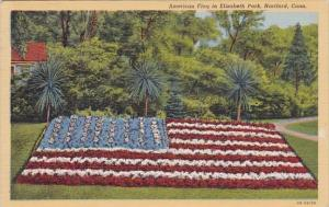 Connecticut Hartford American Flag In Elizabeth Park 1945