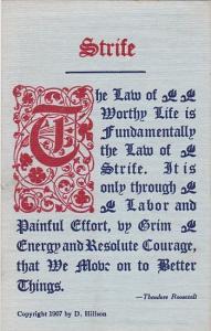 Motto Postcard Strife Copyright Hillson