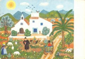 Vintage Art Postcard, Pintura Naif, Ingeborg Gauger, Spain, Spanish 41R