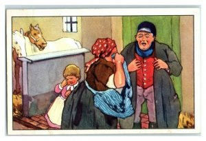 No Pigs Farmer Tears His Hair Out The Long Winter Echte Wagner German Trade Card