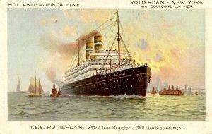 Holland-America Line - TSS Rotterdam     Artist: F. Parsing