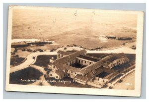 Vintage 1920's RPPC Postcard Casa de Manana La Jolla California Rare Stamp