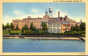 Virginia Norfolk U S Marine Hospital Curteich