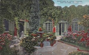 Louisiana New Orleans Little Theatre Courtyard 1955
