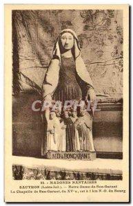 Old Postcard Sautron Notre Dame de Bon Bon Guarantor Guarantor chapel Madonna...