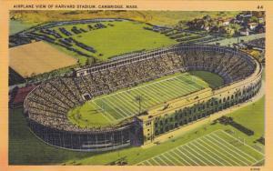 Aerial View of Harvard Stadium & surrounding area, Cambridge, Massachusetts, ...