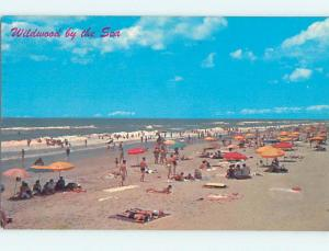 Pre-1980 SCENE AT BEACH Wildwood New Jersey NJ M7427