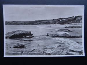 Cornwall GERRANS BAY Nare Beach & Hotel c1950's RP Postcard by D.E.M. Thomas