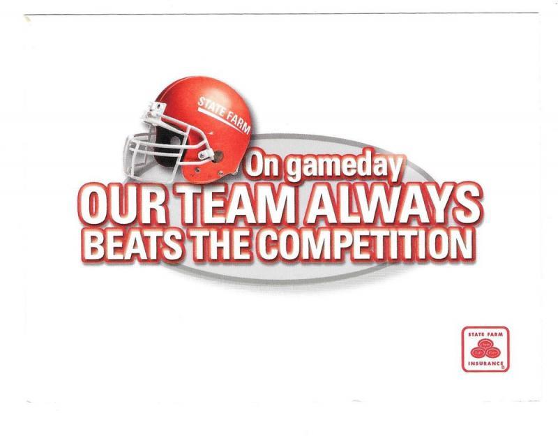Advertising Postcard State Farm Insurance Football Team Ad