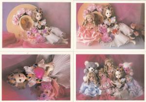 Italian Dolls from Milan 4x Postcard s