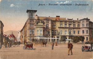 Romania Brasso Kronstadt Utcza-reszlet - Strassenansicht, Street Auto Cars 1918