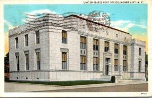 North Carolina Mount Airy Post Office 1934 Curteich