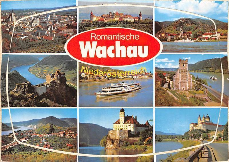 Romantische Wachau multiviews Krems Ruine Aggstein Spitz Goettweig Melk BOat