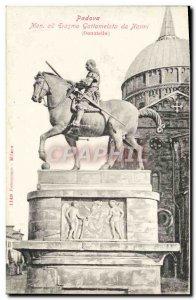 Old Postcard Padova My ad Gattamelata Erasmo da Narni