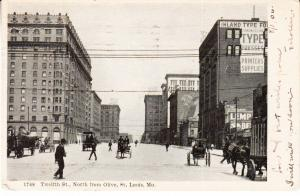 Twelfth St., North from Olive, St Louis 1906
