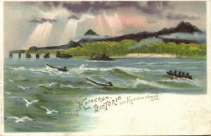 german west africa, CAMEROON, Victoria near Mount Cameroon, Fako Volcano (1899)