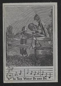 VICTORIAN TRADE CARD A&P Tea Insect People Playing Music