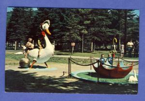 Santa's Village Postcard,Upside Down Umbrella,Jefferson, NH