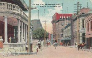 HONOLULU , Hawaii, 1916 ; Post Office & Merchant Street