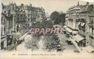 Old Postcard Biarritz Avenue and Place de la Liberte