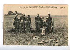 232957 WWI FRANCE Camp de MAILLY artillery cannon Vintage