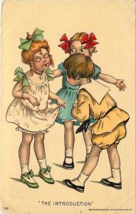 Katharine Gassaway~The Introduction~Boy & Girl Meet~1907 Julius Bien~Courtship