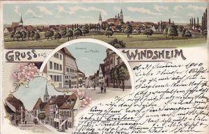 Gruss aus (Bad) Windsheim , Bavaria, Germany , PU-1900