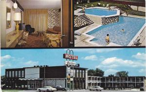 3-Views, Motel Le Granbyen Inc., Swimming Pool, Granby, Province of Quebec,...