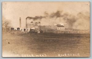 Riverdale Illinois~Chas Pope Beet Sugar Works Factory~Smokestacks~c1910 RPPC