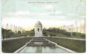 Canton, OH - McKinley Memorial - 1909 Flag Cancel