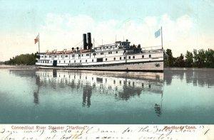 Vintage Postcard 1908 Connecticut River Steamer Hartford The Chapin News Pub.