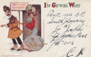 Marriage Licenses I'm Growing Wary , 1907