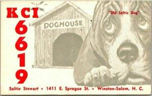 Winston-Salem, North Carolina NC QSL / Ham Radio Postcard KCI6619 Saltie Stewart
