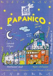Postal 60710: Publicitaria Restaurante PAPANICO (Andorra)