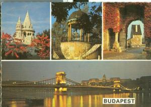 Hungary, Budapest, multi-view 1981 used Postcard