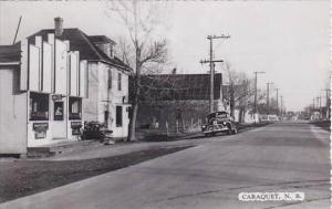 Canada New Brunswick Caraquet Street Scene Real Photo RPPC