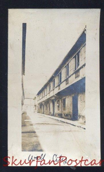 MANILA PHILIPPINES WALL CITY VINTAGE WWI ERA REAL PHOTO PHOTOGRAPH