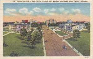 Michigan Detroit Detroit Institute Of Arts Public Library And Wardell Apartme...