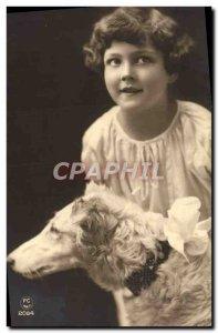 Old Dog Postcard Child