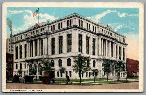 Postcard Tulsa OK c1919 Oklahoma Court House Defunct Demolished in the 1950s