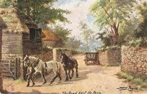 Harry Payne. The Road past tthe Farm Tuck Sussex Roads  Ser. PC # 9390