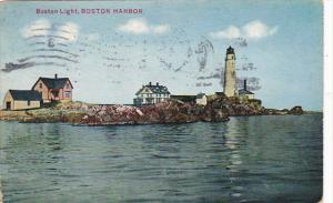 Boston Lighthouse Boston Harbor Massachusetts 1911