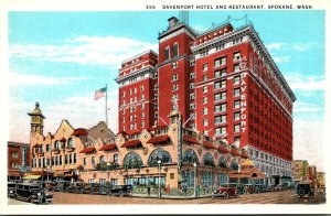 Washington Spokane Davenport Hotel and Restaurant Curteich