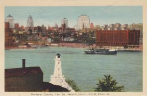 LIGHTHOUSE, Ste Helen's Island .. Montreal Quebec, Canada , PU-1941
