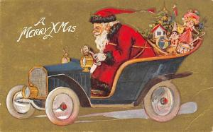 Santa Claus Post Card Old Vintage Antique Christmas Postcard Writing on back