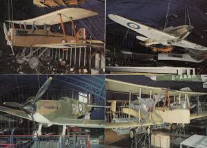 Hawker Hurricane Vickers Vimy Spitfire 1A SE5A 4x WW2 Plane Exhibit Postcard s