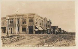 RP: COLUMBUS , Montana, 1910s ; Main Street (dirt)