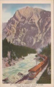 Canada Train At Mount Field and Kicking Horse River Yoho National Park